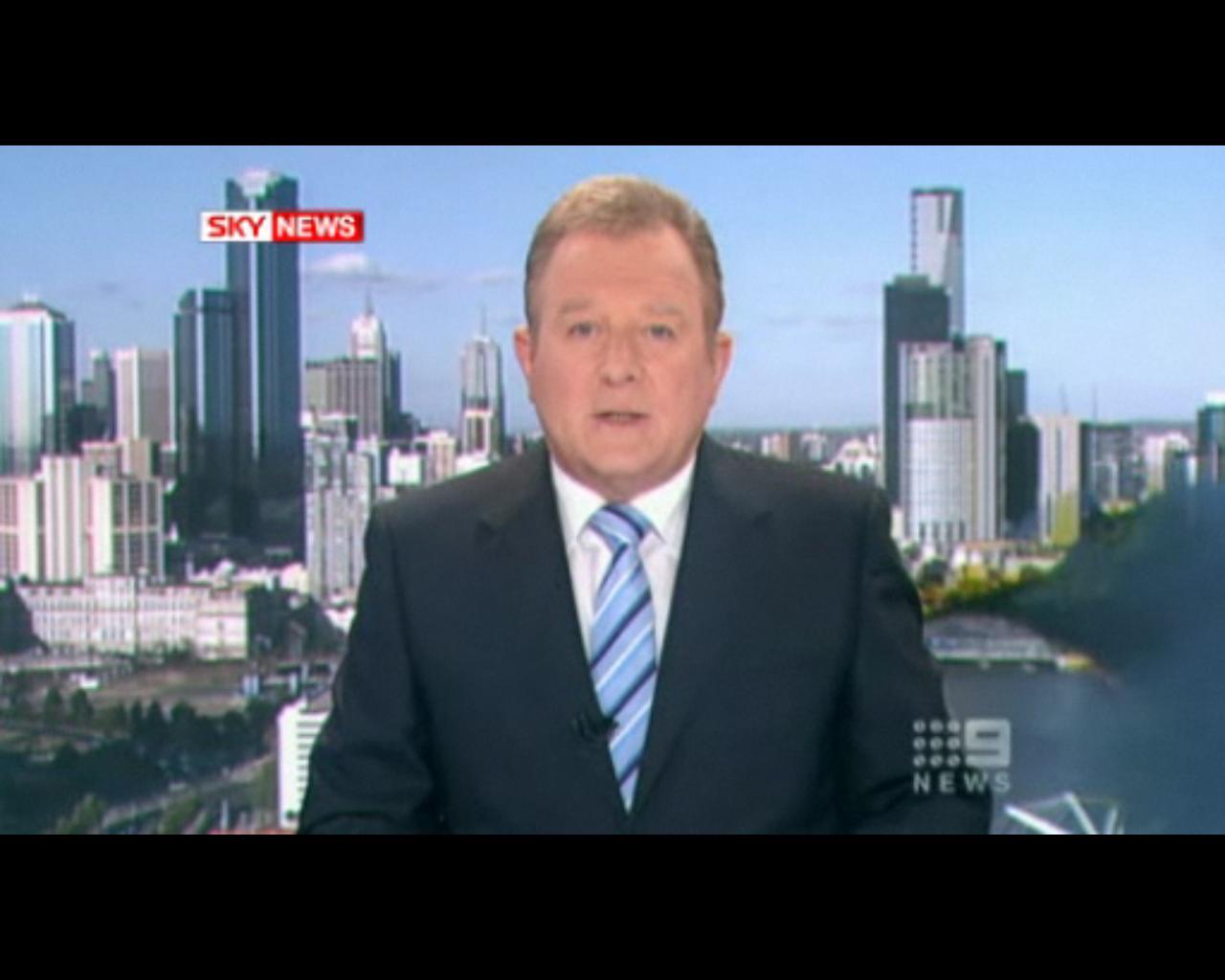 澳电视新闻直播海鸥抢镜 播报员镇定如常(图)图片