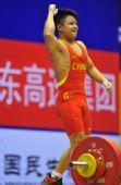 图文:男子56公斤级龙清泉夺冠 握拳庆祝