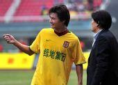 图文:[中超]长沙0-0陕西 李毅和朱广沪商讨