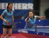 图文:国乒女团3-1逆转中国香港 回球拼尽全力