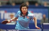 图文:国乒女团3-1逆转中国香港 回球表情狰狞