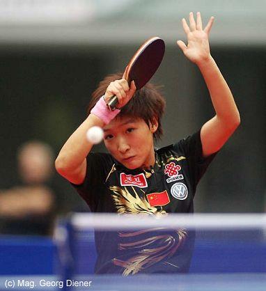 图文:国乒女团3-1逆转中国香港 回球非常动感