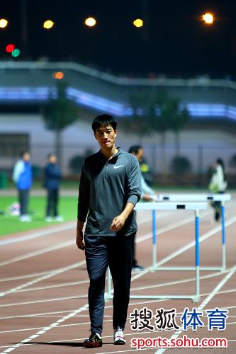 刘翔开始训练