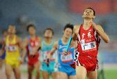 图文:男子4X400米接力广东队夺冠 轻松过终点