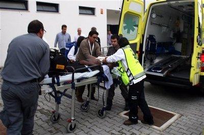 怀德蒙德被送往医院