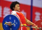 图文:第11届全运会举重之最 35岁的冠军孙彩艳