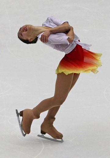 图文:花滑中国杯女单自由滑 日本车手铃木明子