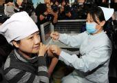 图文:河南首批甲流疫苗开始免费接种