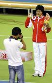 图文:亚洲室内运动会 刘青获女子1500米冠军