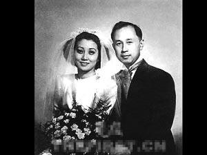钱学森和蒋英结婚照