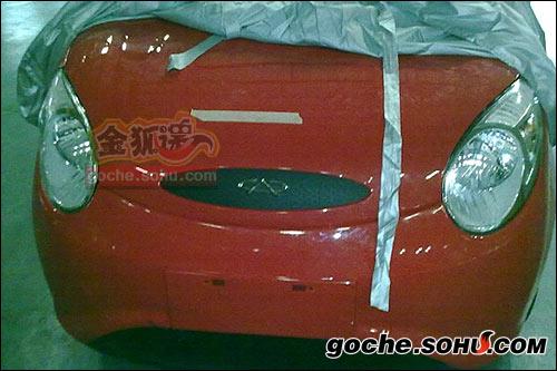 图片中的车型很有可能是QQ3的改款车型