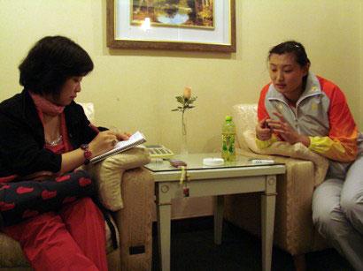 杨昊接受采访