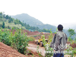 正在修建的兴隆一号井井坝