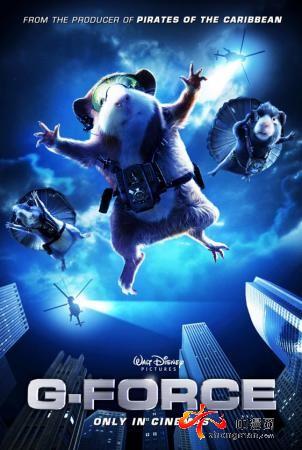迪斯尼真人3d动画《豚鼠特工队》将登陆中国