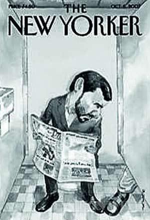 合成的头像做了封面,片中莱温斯基张大嘴微笑