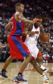 图文:[NBA]快船战胜勇士 杰克逊突破上篮