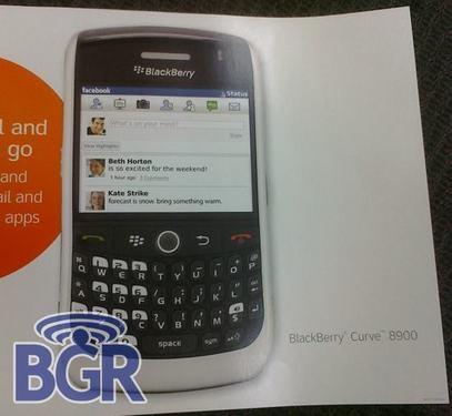 小巧机身不支持3G 黑莓8900白色版现身