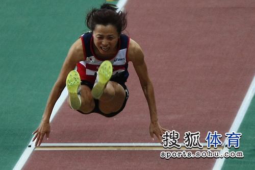 图文:田径亚锦赛首日 女子跳远韩国选手
