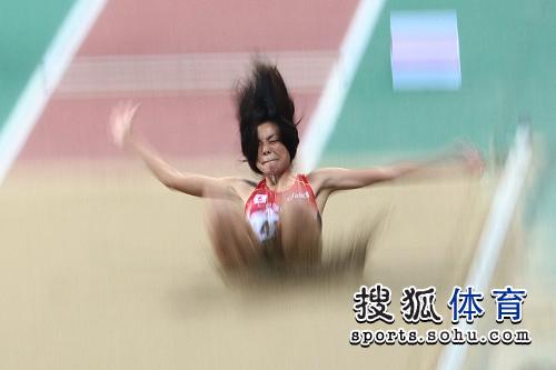 女子跳远日本选手