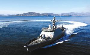 韩国在靠近朝鲜西海岸边境地区部署的YunYeongHa号导弹舰,舰上配备导弹