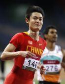 图文:亚锦赛次日男子100米 张培萌帅气逼人