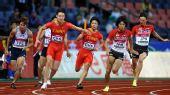 图文:亚锦赛4X100米接力 中国队晋级