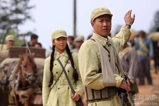 张国强在北京拍摄《我们队伍向太阳》
