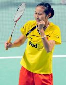 图文:香港超级赛半决赛战况 王仪涵喜极而泣