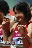 图文:亚锦赛赛场频现丽影 日本美女笑靥如花