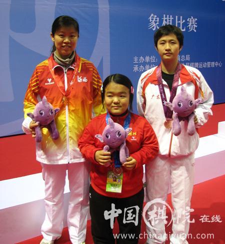 左起为尤颖钦、左文静、陈幸琳