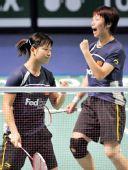 图文:马晋/王晓理获女双冠军 两人握拳庆祝