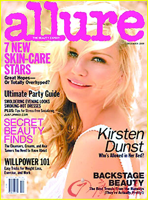 克里斯汀・邓斯特登上时尚杂志《Allure》12月份的期刊封面