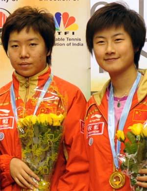 图文:乒乓球亚锦赛团体赛赛况 女团颁奖仪式