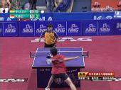图文:乒乓球亚锦赛男单第二轮 队员比赛中摆短