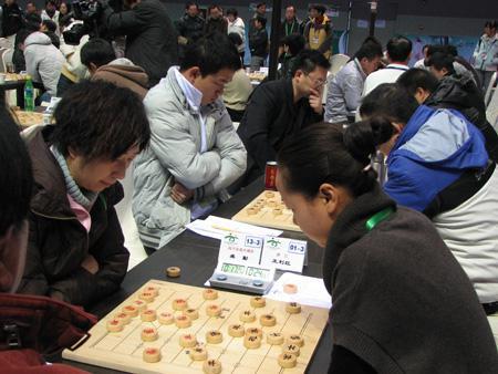 四川队选手在比赛中