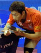 图文:亚洲乒乓球锦标赛 许昕在男单比赛中