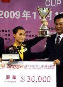 图文:九球世锦赛刘莎莎夺冠 获得30000元奖金