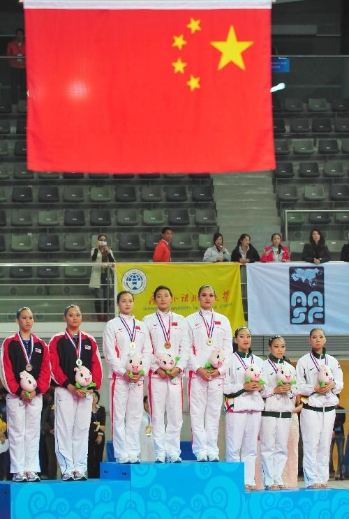 体育比赛升国旗图片