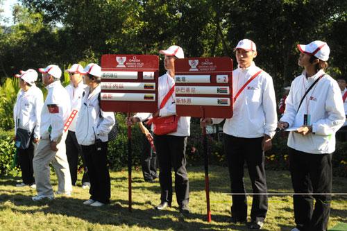 由大学生和观澜湖会员组成的志愿者