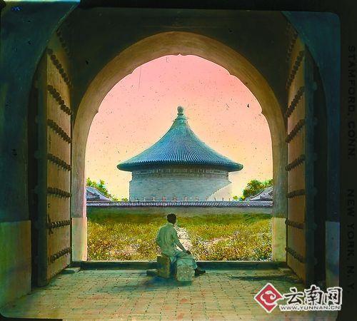 北京天坛简笔画彩色