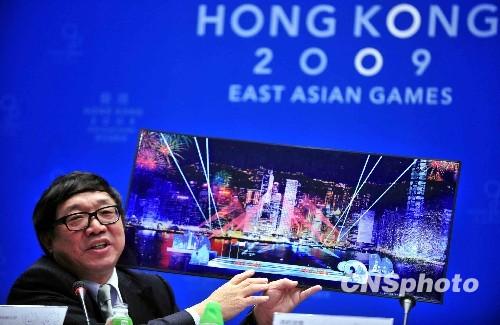 北奥大型文化体育活动有限公司总经理路健康介绍东亚运开幕式情况