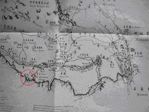 《行游西藏》手绘地图完全一致