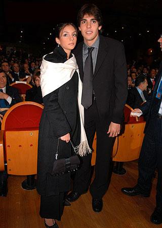 卡卡与妻子卡罗琳