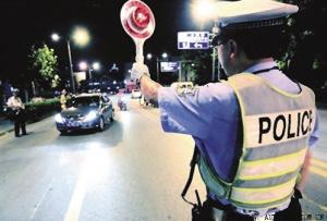 张明宝事件后,警方加大了对酒驾的检查力度。资料图片