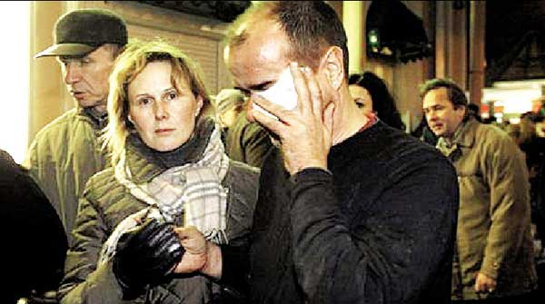 事故发生后,伤者被带到了莫斯科火车站