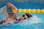 图文:女子800米自由泳谭淼夺冠 划破宁静