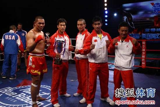 中美散打对抗赛五位中国参赛选手