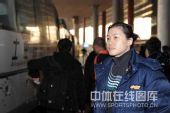 图文:世锦赛中国举重队凯旋 曹磊总是心事重重