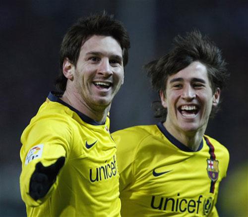 1月7日 08/09赛季国王杯1/8决赛第1回合 马德里竞技1比3巴塞罗那