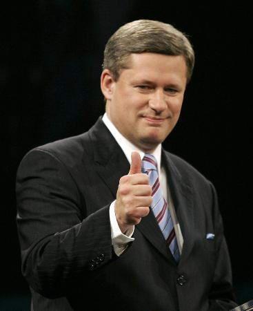 资料图片:加拿大总理哈珀-加总理哈珀今起首次访华 千呼万唤始出来